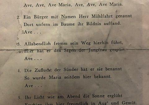 Das Aldenhovener Wallfahrtslied 1949